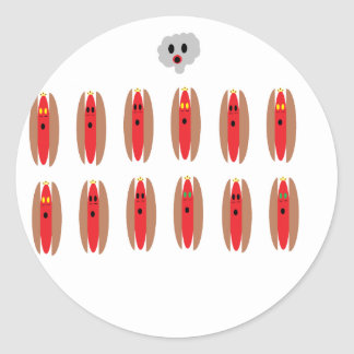 Zombie Hot Dogs Stickers