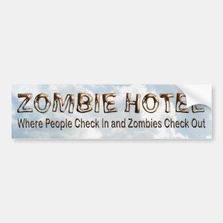 Zombie Hotel - Bumper Sticker Car Bumper Sticker