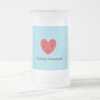 Zombie Housewife Frosted Glass Beer Mug