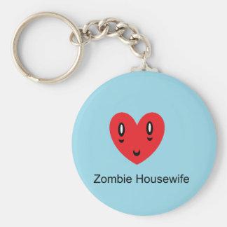 Zombie Housewife Basic Round Button Keychain