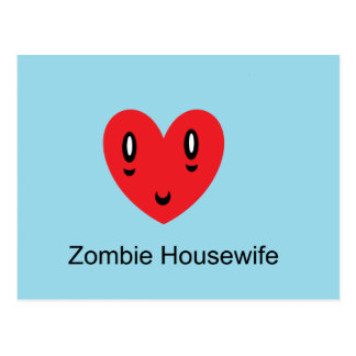 Zombie Housewife Postcard