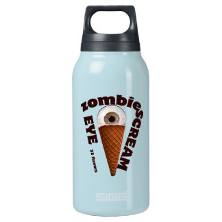 Zombie humor.  Zombie Eats Eye Scream Insulated Water Bottle