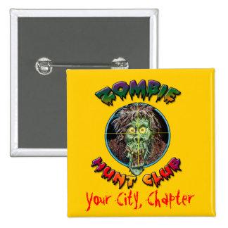 Zombie Hunt Club - Living Dead Pinback Button