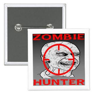 Zombie Hunter #004 2 Inch Square Button