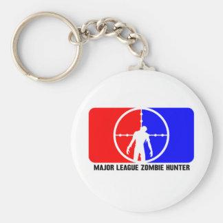 zombie hunter 1 basic round button keychain