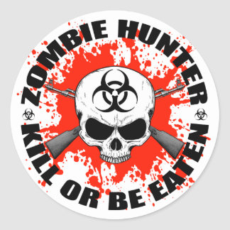 Zombie Hunter 1 Stickers