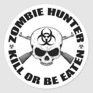 Zombie Hunter 2 Classic Round Sticker