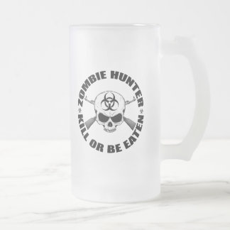 Zombie Hunter 2 Frosted Glass Beer Mug