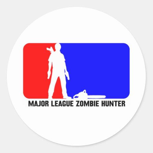 zombie hunter 2 round sticker