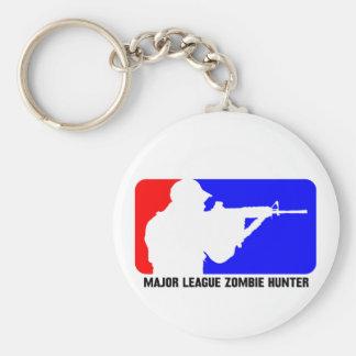 zombie hunter 3 basic round button keychain
