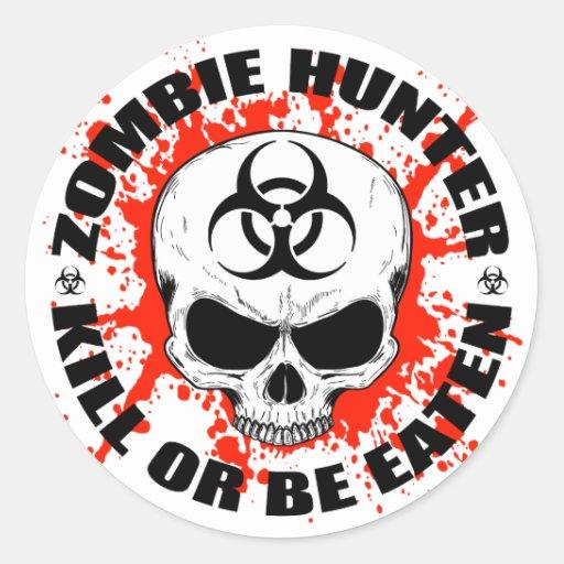 Zombie Hunter 3 Classic Round Sticker