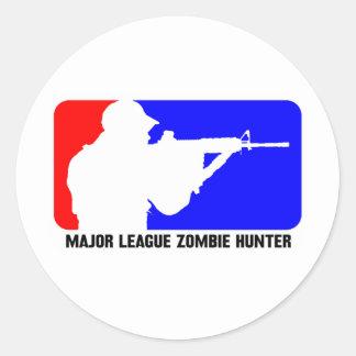 zombie hunter 3 round stickers