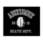 Zombie Hunter Academy T-Shirt Postcard