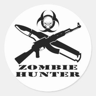 Zombie Hunter AK-47 Classic Round Sticker