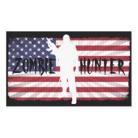 ZOMBIE HUNTER AMERICAN FLAG STICKER
