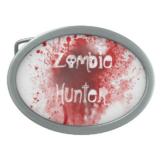 Zombie hunter  belt buckle