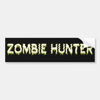 Zombie Hunter Car Bumper Sticker