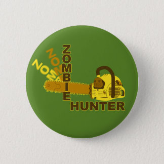 Zombie Hunter Button (green background)