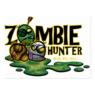Zombie Hunter Card Large Business Cards (Pack Of 100)