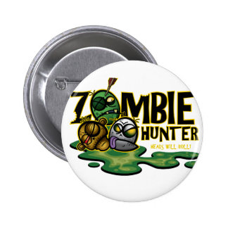 Zombie Hunter Card Pins