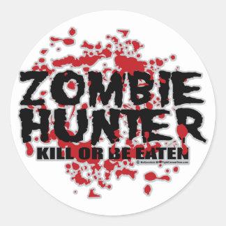 Zombie Hunter Classic Round Sticker