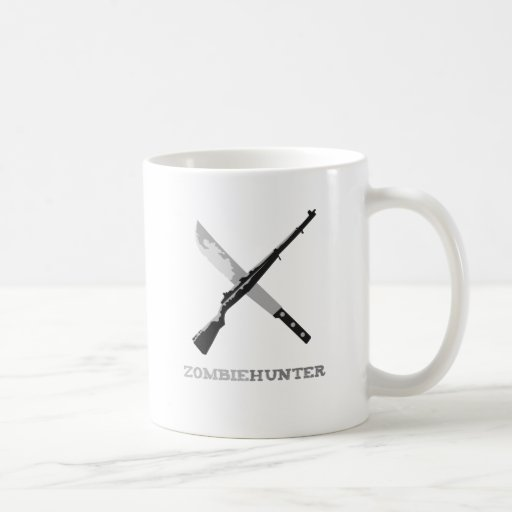 Zombie Hunter Classic White Coffee Mug