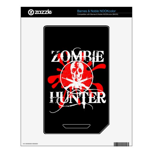 Zombie Hunter Decal For The NOOK Color