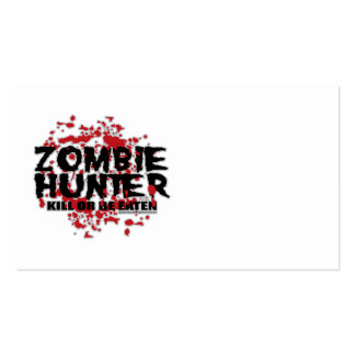 Zombie Hunter Double-Sided Standard Business Cards (Pack Of 100)