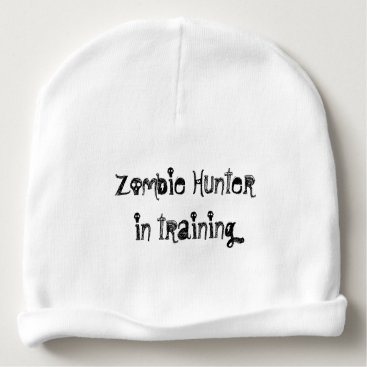 Halloween Themed Zombie Hunter in training hat for baby