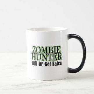 Zombie Hunter Kill Or Get Eaten 11 Oz Magic Heat Color-Changing Coffee Mug