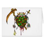 Zombie Hunter Logo Cards
