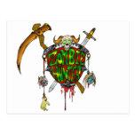 Zombie Hunter Logo Postcard