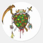 Zombie Hunter Logo Round Stickers
