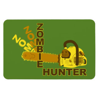 Zombie Hunter Magnet (green background)