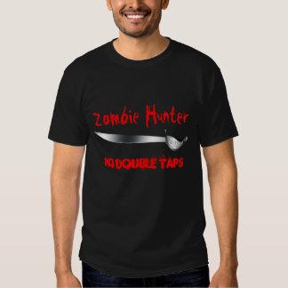 Zombie Hunter No Double Taps Cutlass Sword T-Shirt