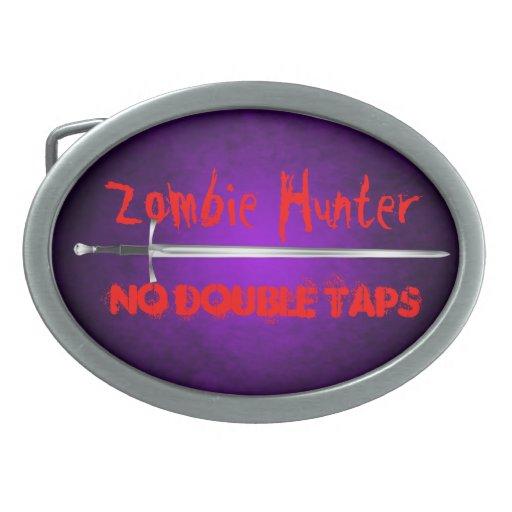 Zombie Hunter No Double Taps Sword Belt Buckle
