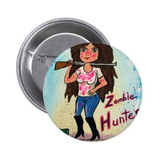 Zombie Hunter Round Pin