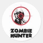 Zombie Hunter Round Stickers