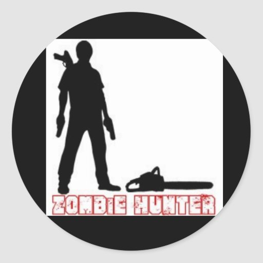 Zombie-Hunter Round Stickers