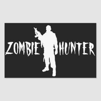 ZOMBIE HUNTER -Sticker Rectangular Sticker