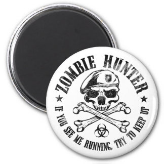 zombie hunter undead living dead 2 inch round magnet