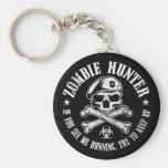 zombie hunter undead living dead basic round button keychain