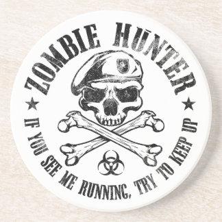 zombie hunter undead living dead beverage coaster