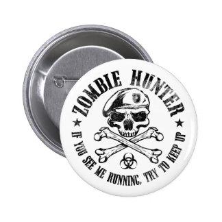 zombie hunter undead living dead button
