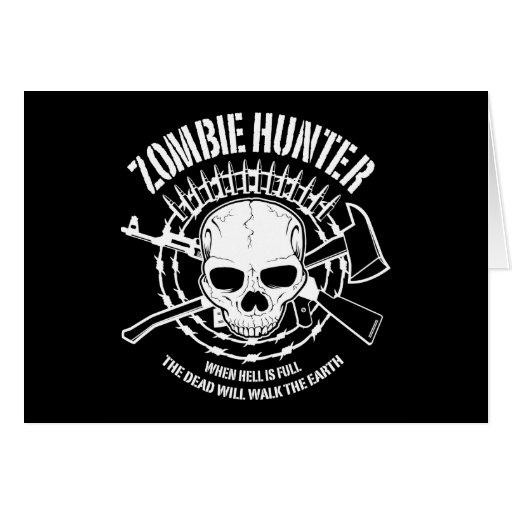 zombie hunter undead living dead card