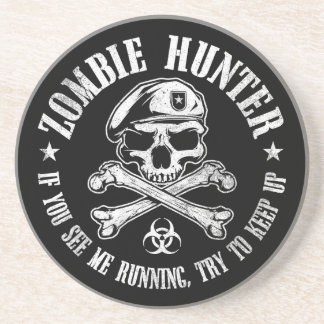 zombie hunter undead living dead drink coaster