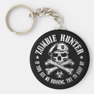 zombie hunter undead living dead key chains