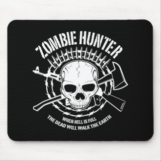 zombie hunter undead living dead mouse pad