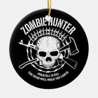 zombie hunter undead living dead christmas tree ornaments