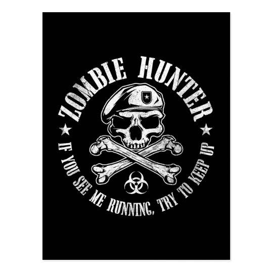 zombie hunter undead living dead postcard